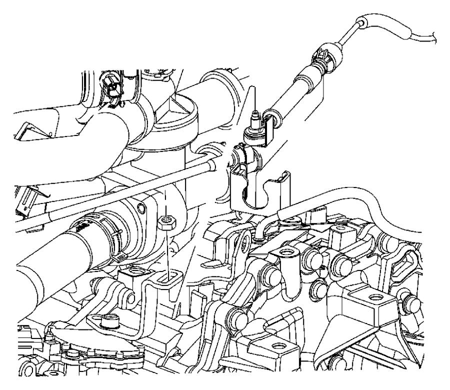 Jeep Wrangler Clip. Retainer. Transfer case shift cable