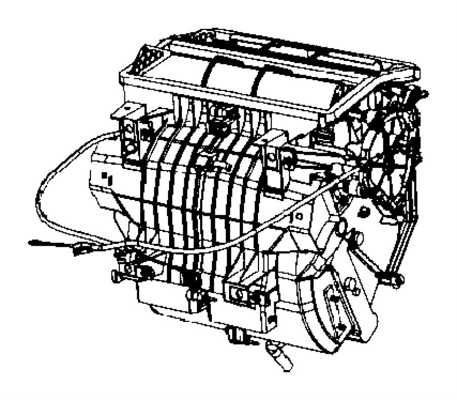 2007 Dodge Caliber Cable. Mode, temperature control