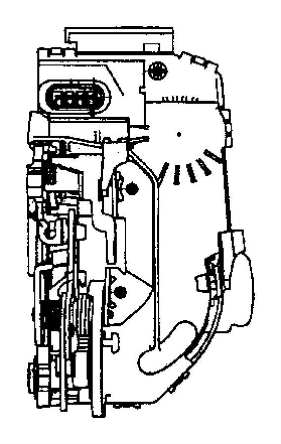 Jeep Compass Latch. Rear door. Left. Manual. Trim