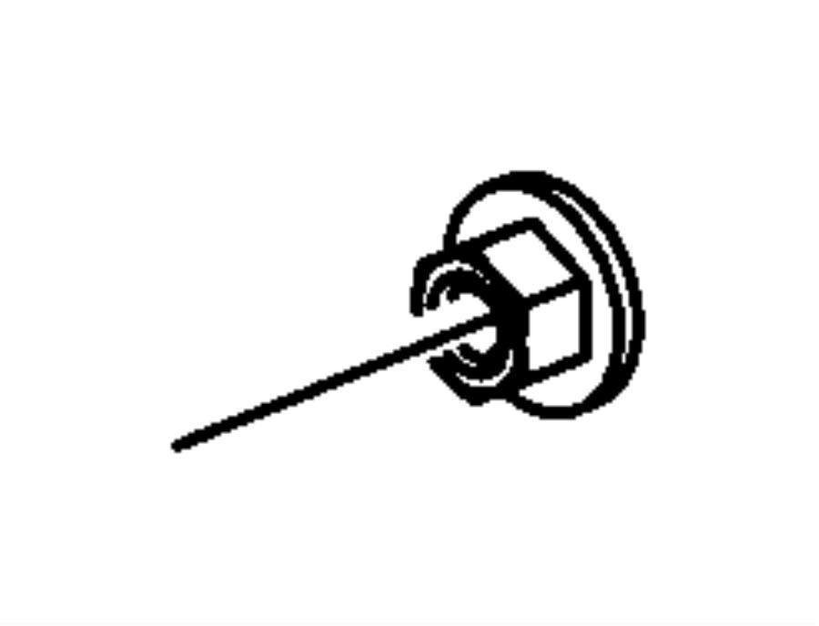 Dodge Caliber Nut. Hex flange. M10x1.50. Mounting