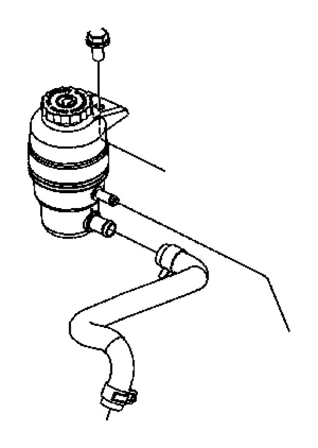 chrysler pt cruiser power steering fluid pump reservoir 05272351aa