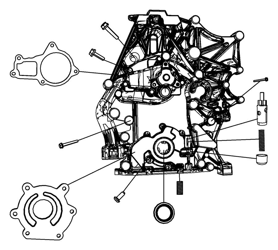 Jeep Wrangler Plunger. Oil pressure relief valve