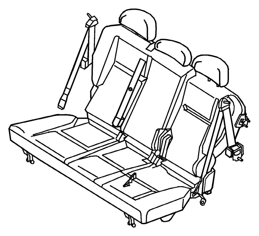 Chrysler Pt Cruiser Seat belt. Rear. Trim: [cloth low-back