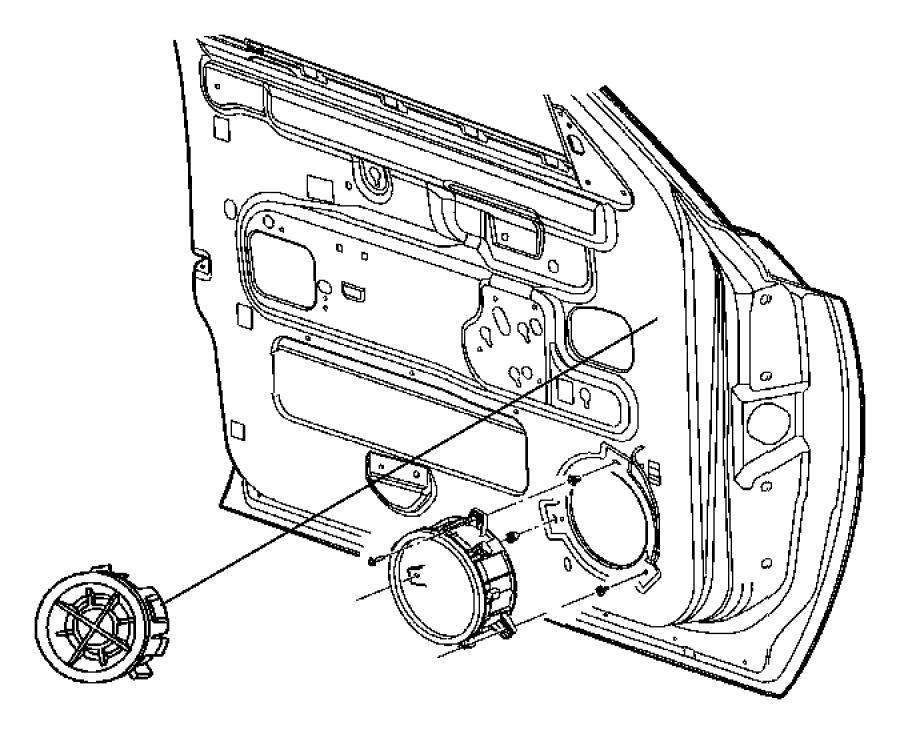 2007 Dodge Speaker. Tweeter. Left rear door, right rear