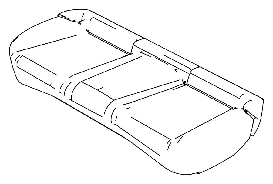 Chrysler Sebring Cover. Rear seat cushion. [j1]. Trim