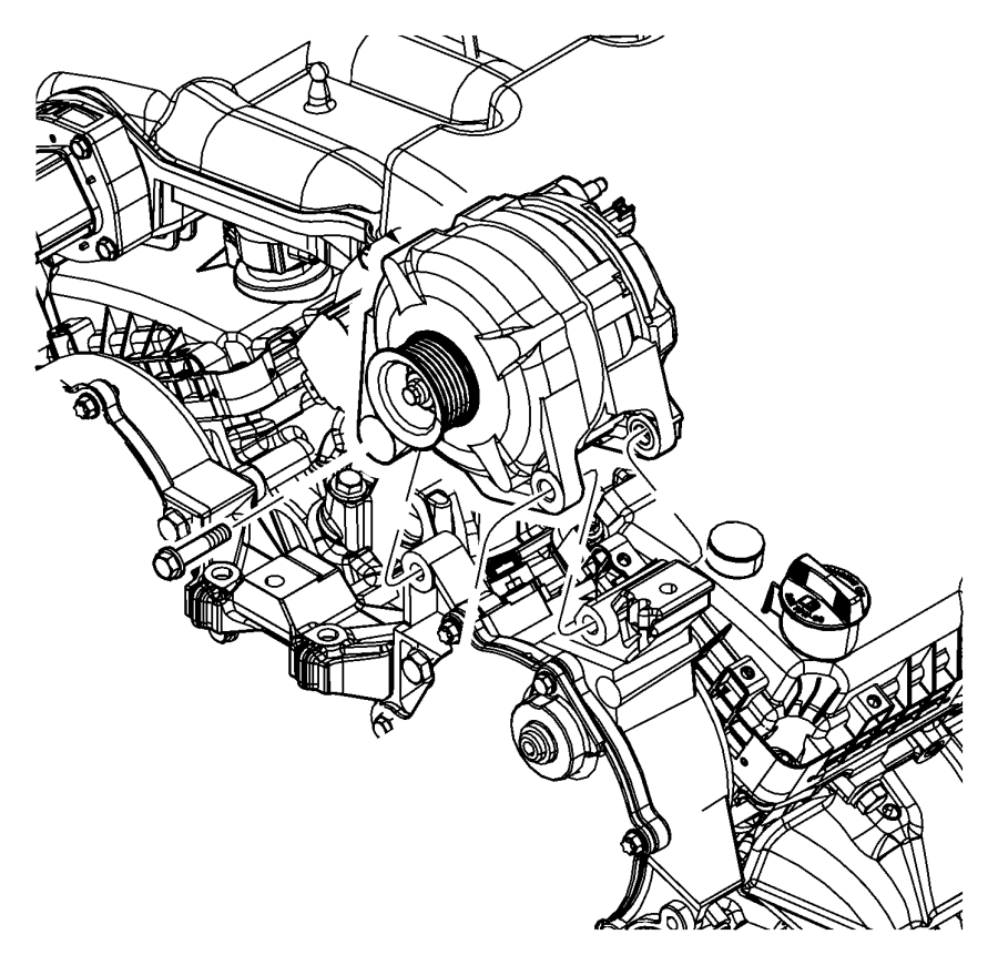 2010 Dodge Journey Generator/Alternator and Related Parts.