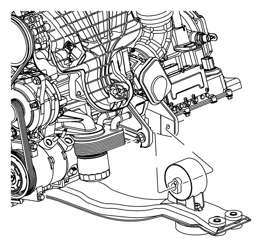 2012 Chrysler 200 Bracket. Engine mount. Front