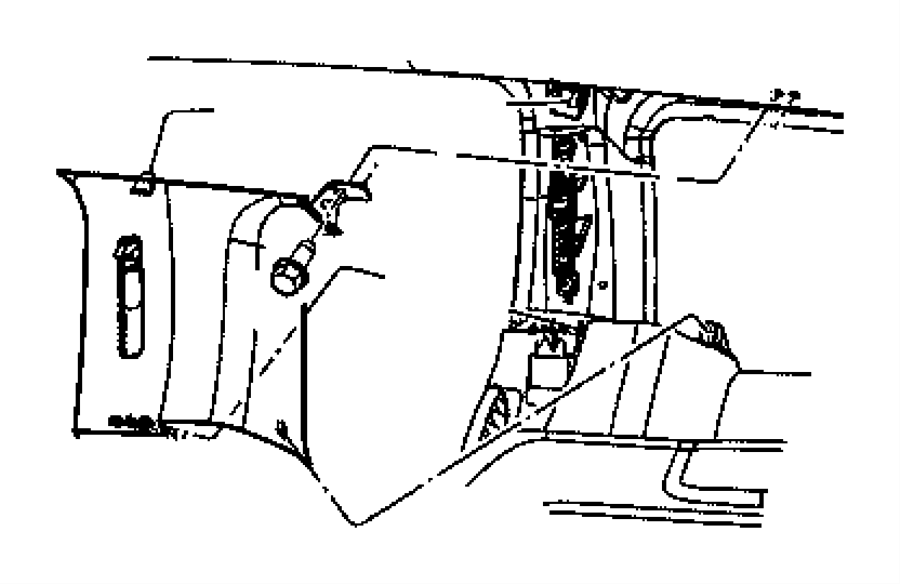Chrysler Aspen Molding. C pillar. Right. Trim: [all trim