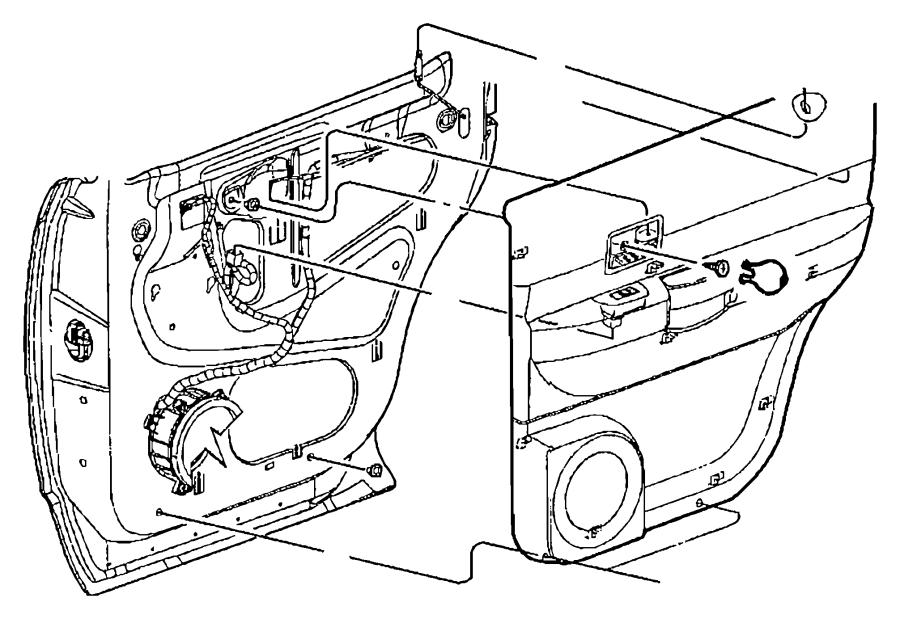 Chrysler Aspen Bezel. Lock knob. [d5], [j1]. Trim: [all