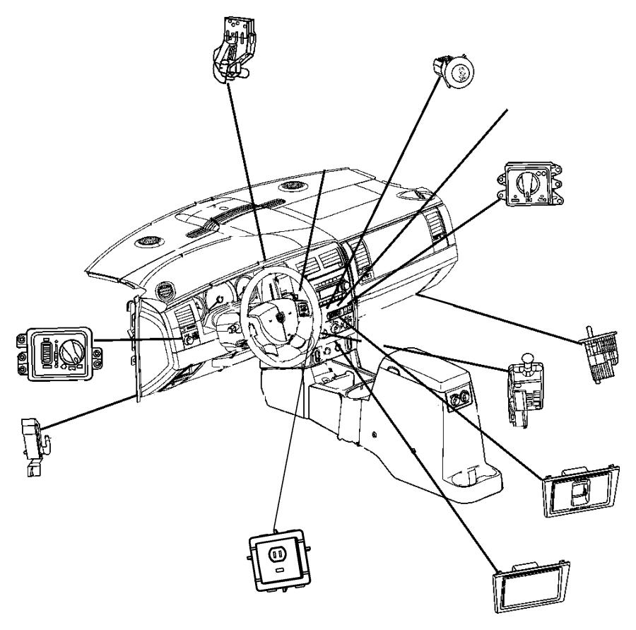 2006 Dodge Switch. Ignition. Wiperstilt, columnhybrid