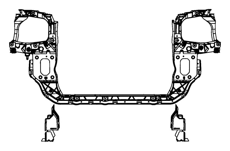 2014 Dodge Grand Caravan Panel. Radiator closure
