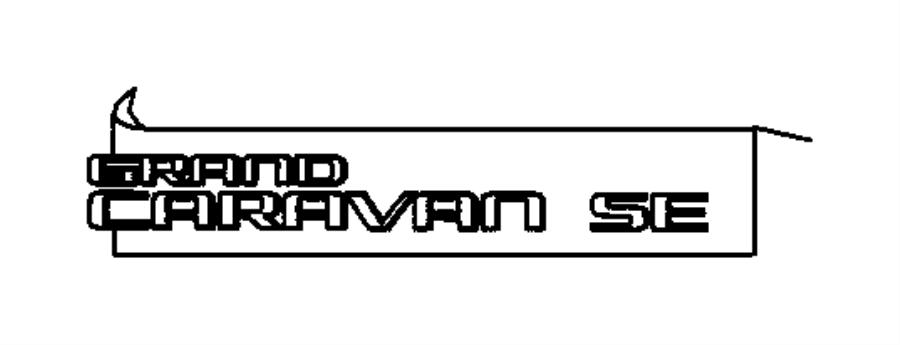 Dodge Grand Caravan Nameplate. Grand caravan. With [grand