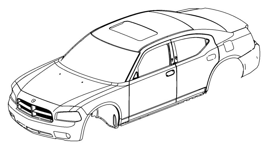 Dodge Charger Decal. Fender front. Right. [no description