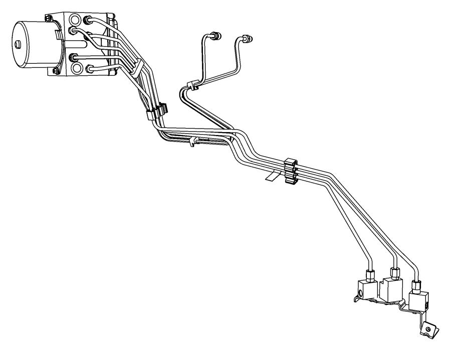 RAM Dakota Tube assembly, brake. Master cylinder to hcu