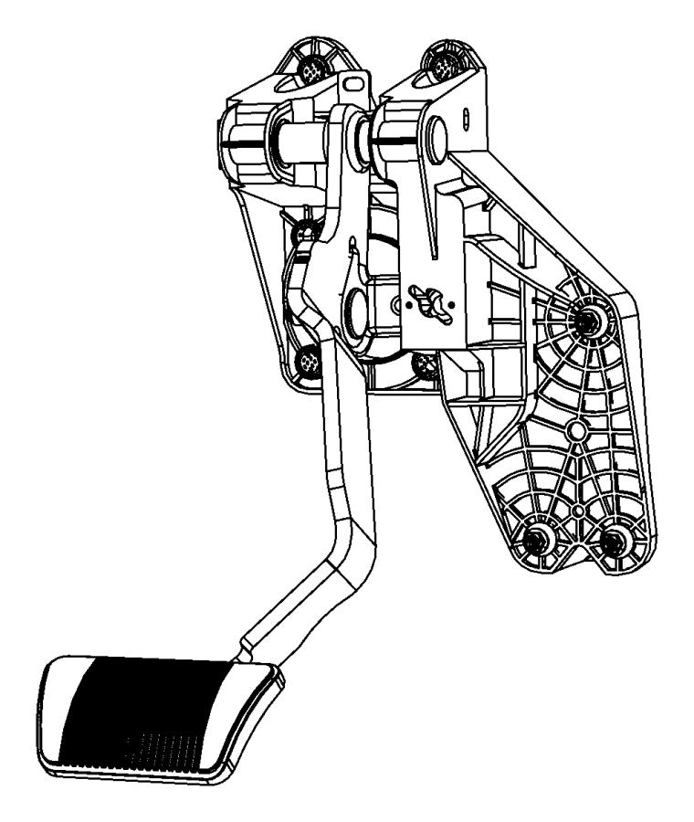 Dodge Grand Caravan Pedal. Used for: brake and accelerator