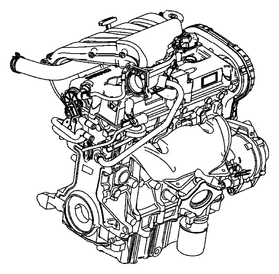 Chrysler Pt Cruiser Engine. Long block. Remanufactured