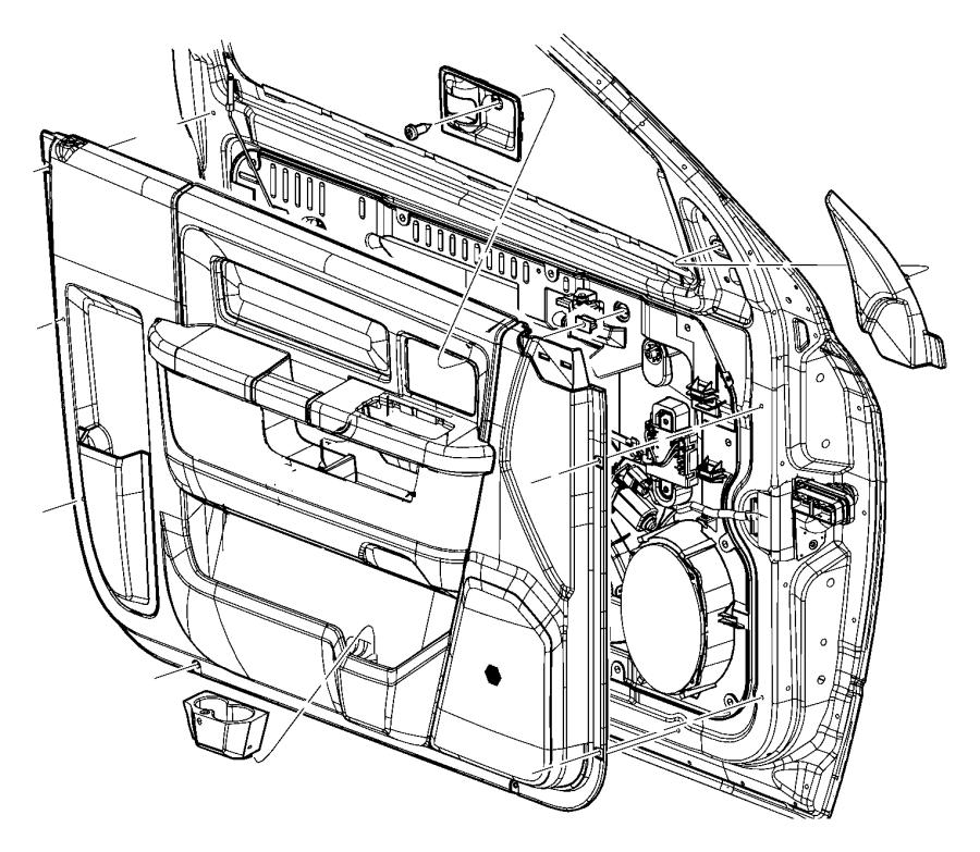 Dodge Ram 1500 Panel. Front door trim. Right. [kt], with