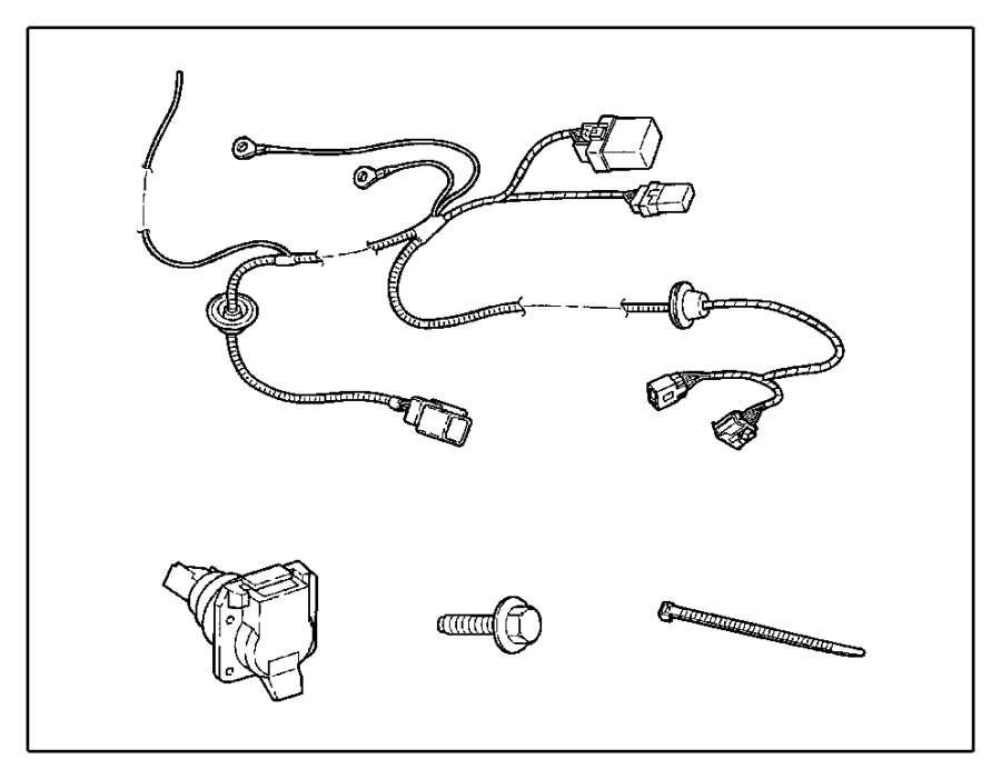 2004 Jeep Wrangler Trailer Tow Wiring Harness, WIRING KIT
