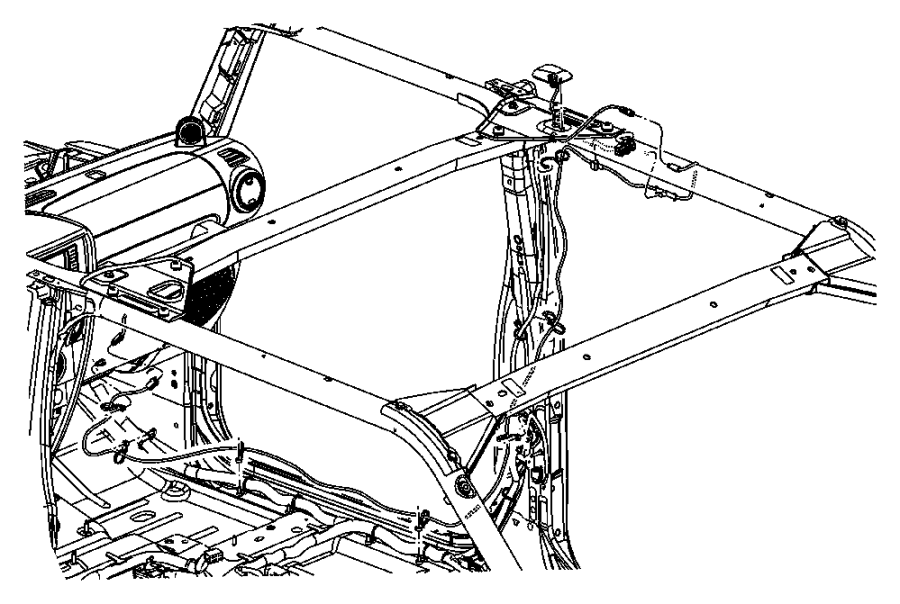 Jeep Wrangler Antenna. Satellite. After 11/25/06