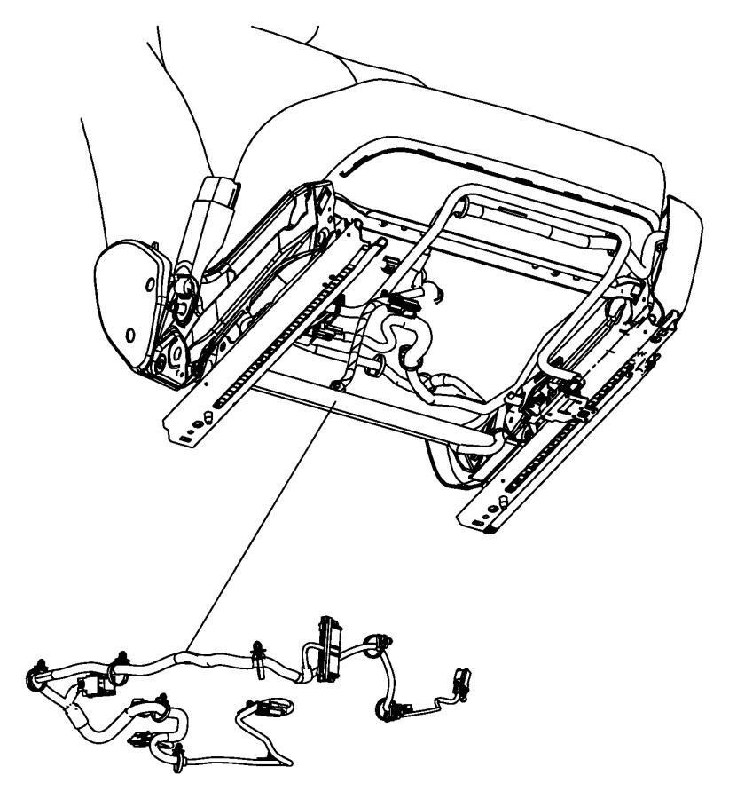 Dodge Challenger Wiring. Power seat. Tagged 1580741. Trim