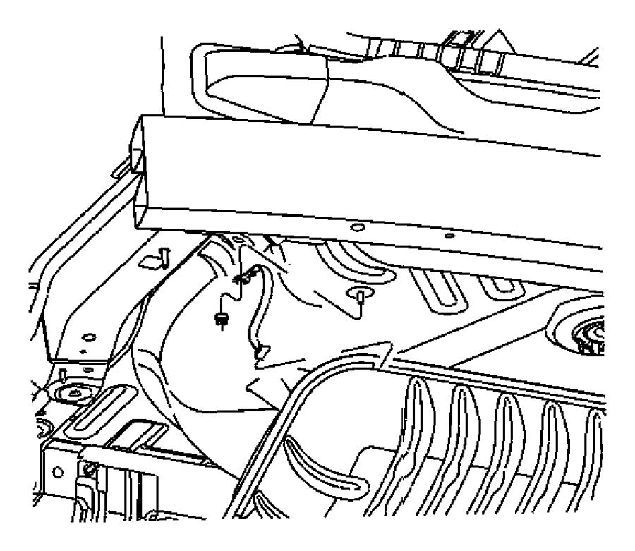 Jeep Patriot Strap. Ground. Engine, engine head to heat