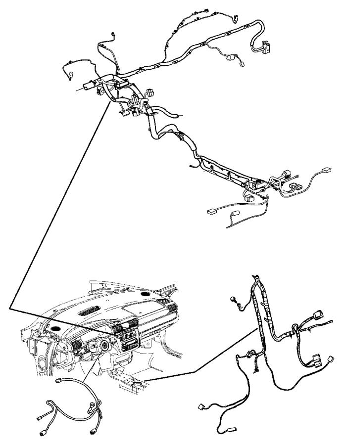 Chrysler Sebring Wiring. Instrument panel. [[uconnect