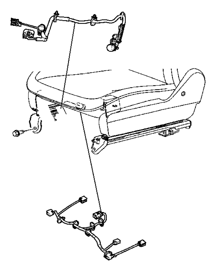 Chrysler Sebring Wiring. Seat. Trim: [prem cloth low-back
