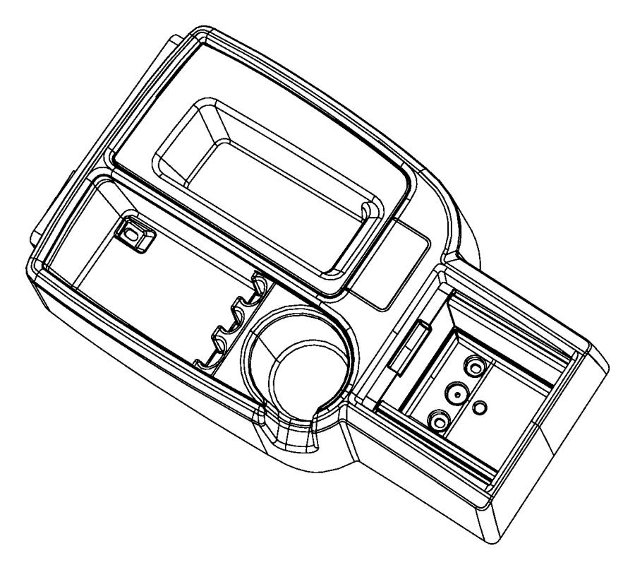 Dodge Dakota Console. Floor. Front. Trim: [all trim codes