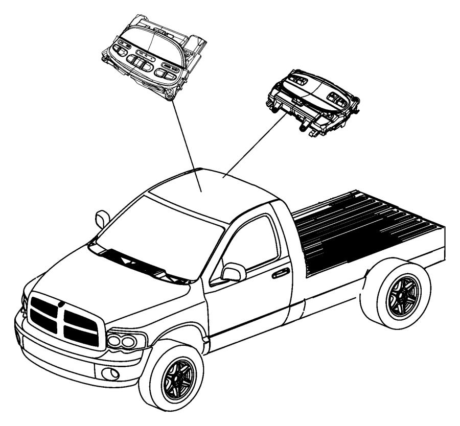 2009 Dodge Ram 1500 Module. Compass temperature. Trim
