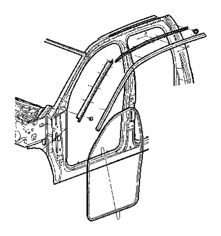 2004 Dodge Ram 1500 Weatherstrip. Door opening. Front