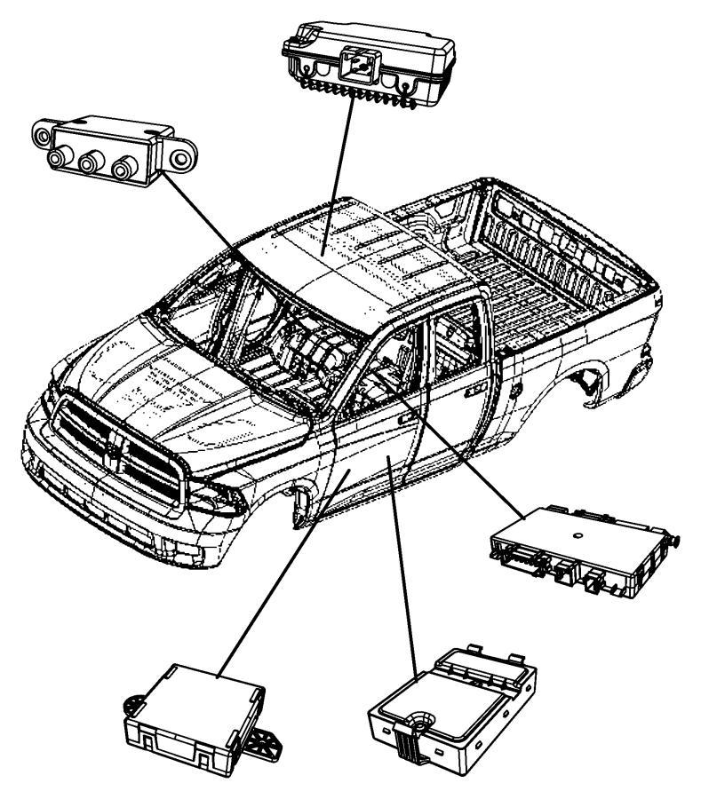 Dodge Ram 1500 Module. Heated seat. [jrf, lev, cma, cvn