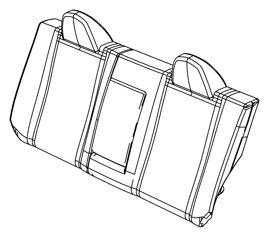 Chrysler Sebring Seat back. Rear. [t1]. Trim: [leather