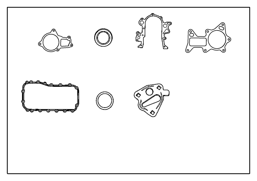 Chrysler Voyager Gasket package. Engine lower. Midyear