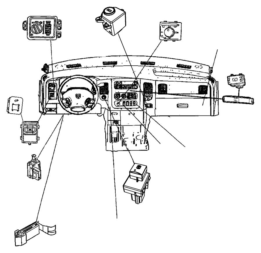 Dodge Ram 1500 Switch. Power window. Trim: [all trim codes