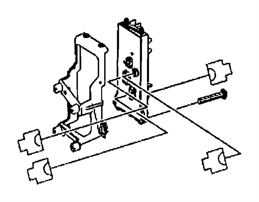 Dodge SPRINTER Bracket. Central electrical system