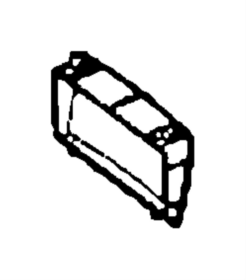 Dodge SPRINTER Bezel. Trim: [cloth low back bucket seats