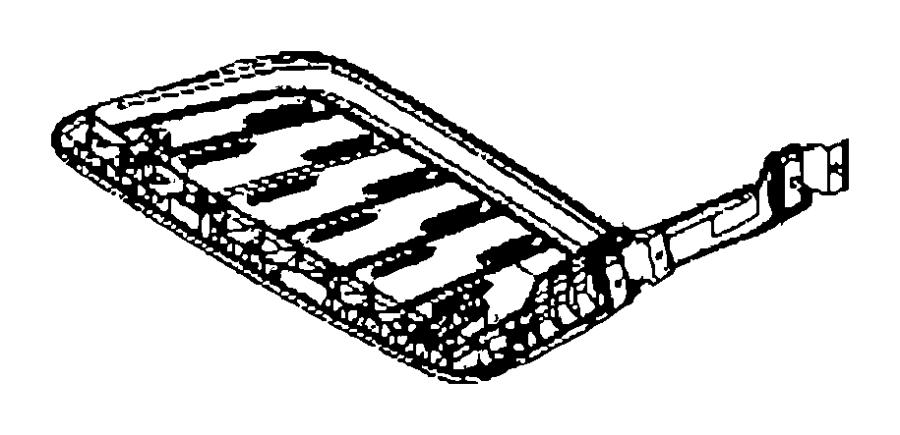 Dodge SPRINTER Tray. Cargo. Left. Trim: [cloth low back