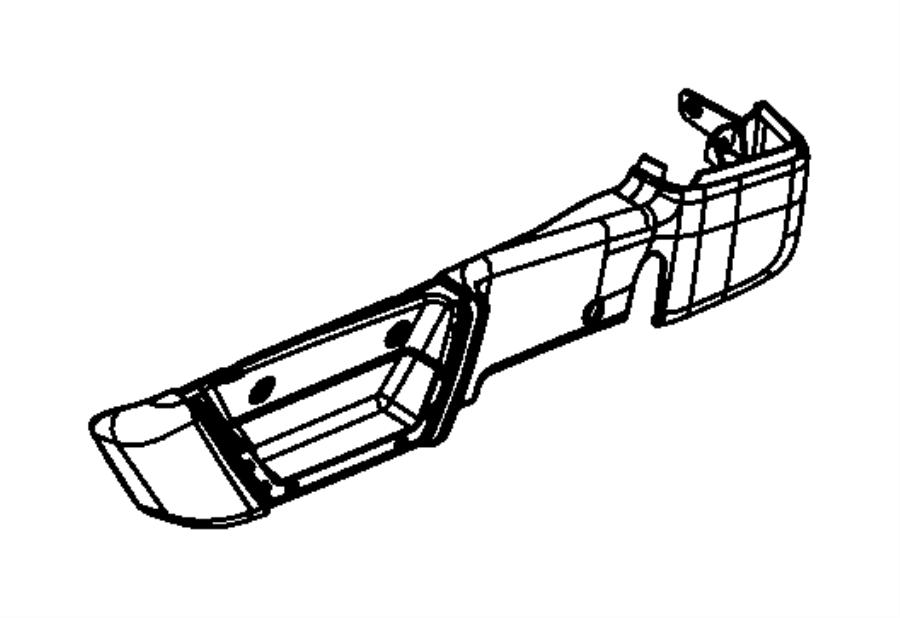Chrysler Town & Country Shield. Riser. Left. Inboard. Trim