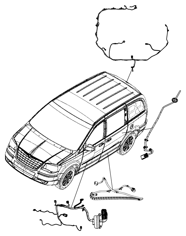 Dodge Grand Caravan Wiring. Sliding door left. [power