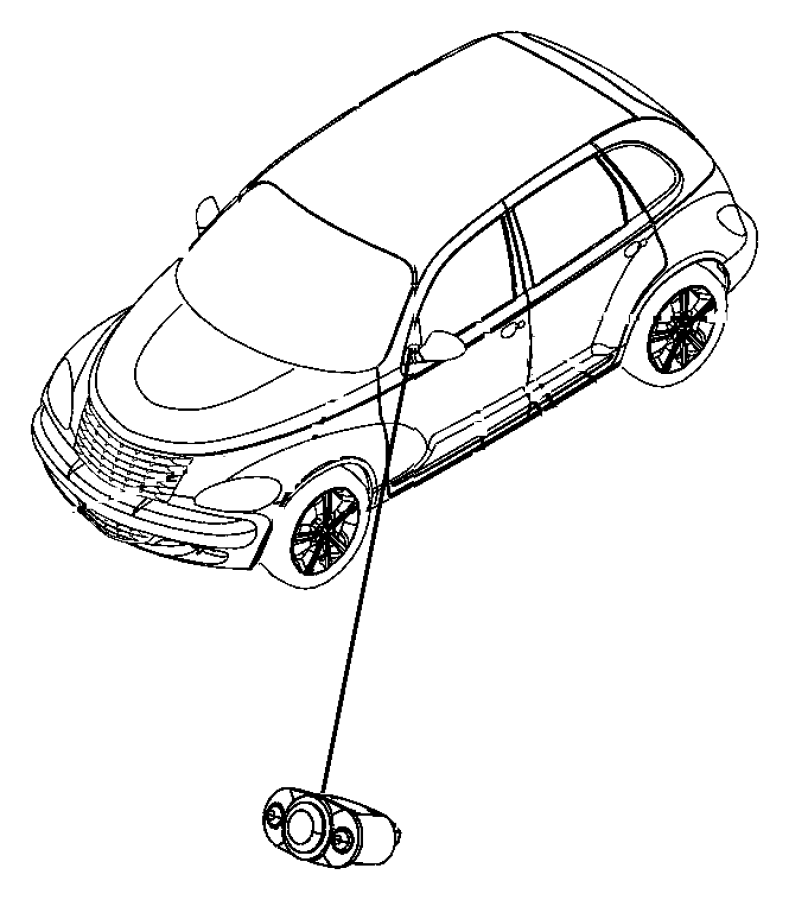 Chrysler Pt Cruiser Knob. Power seat switch. 6-way button