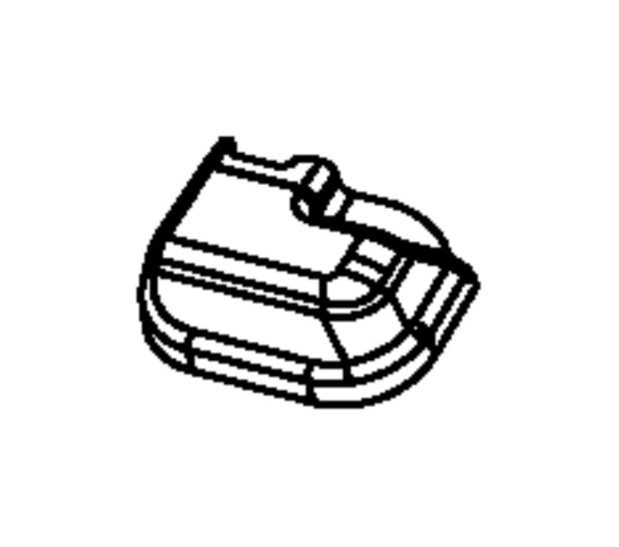 Dodge Avenger Shield. Riser. Left. Trim: [all trim codes