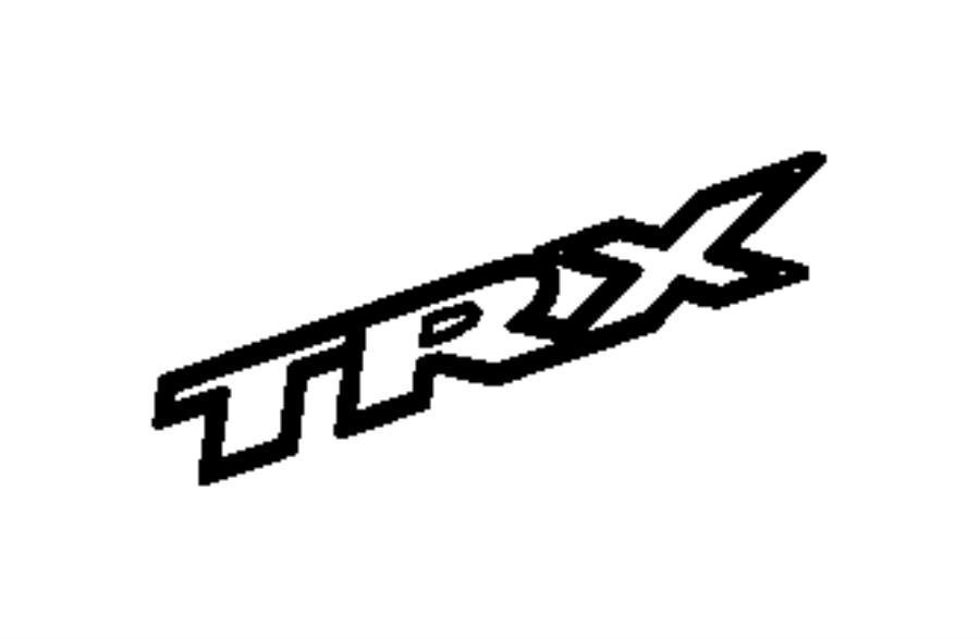 Dodge Ram 2500 Decal. Trx. [trx badge], [trx badge