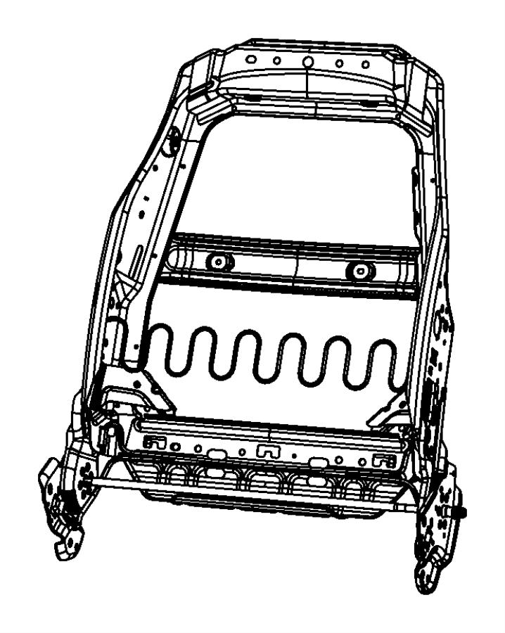 Dodge Nitro Frame. Front seat back. Left. Fold flat seat