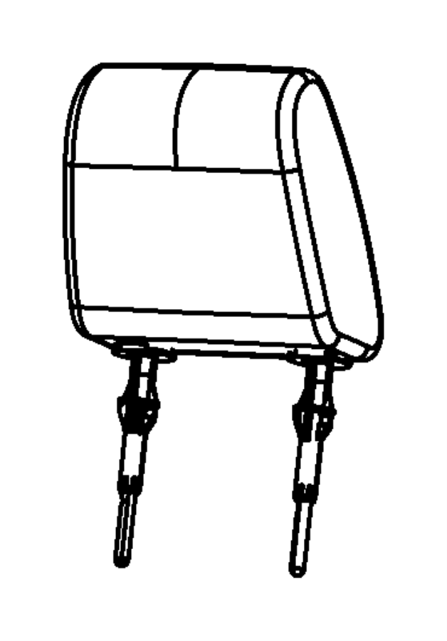 2010 Dodge Headrest. Front. Trim: [cloth low-back bucket
