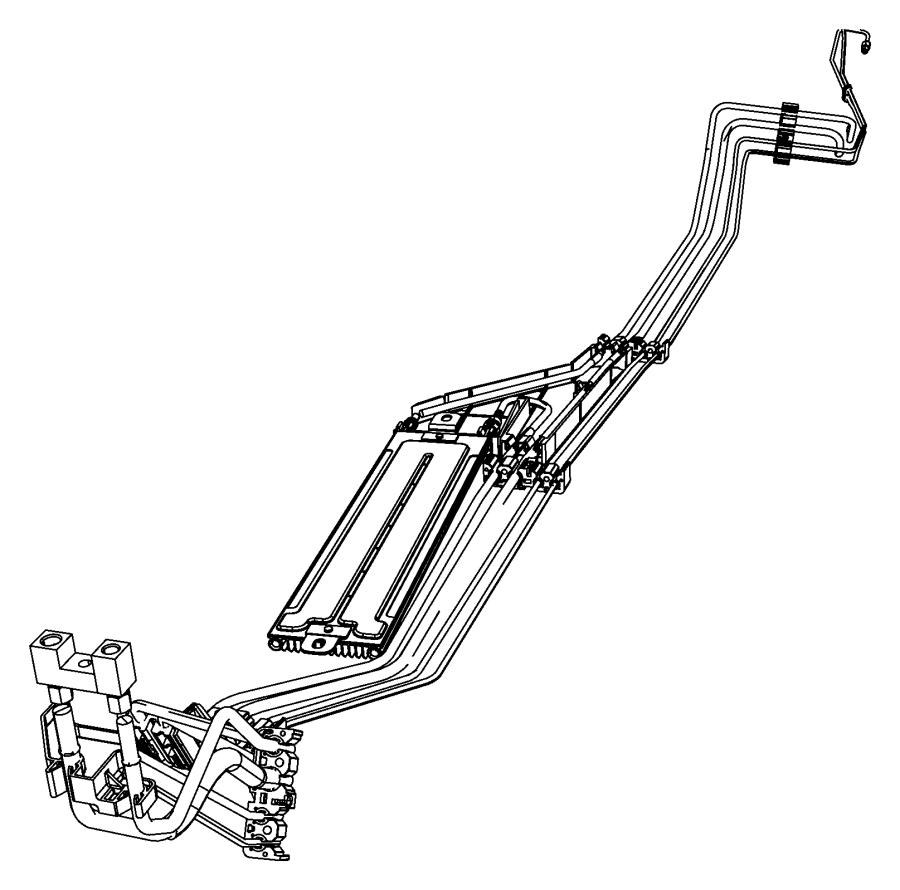 Chrysler Sebring Tube. Fuel supply. Tankblackmedium