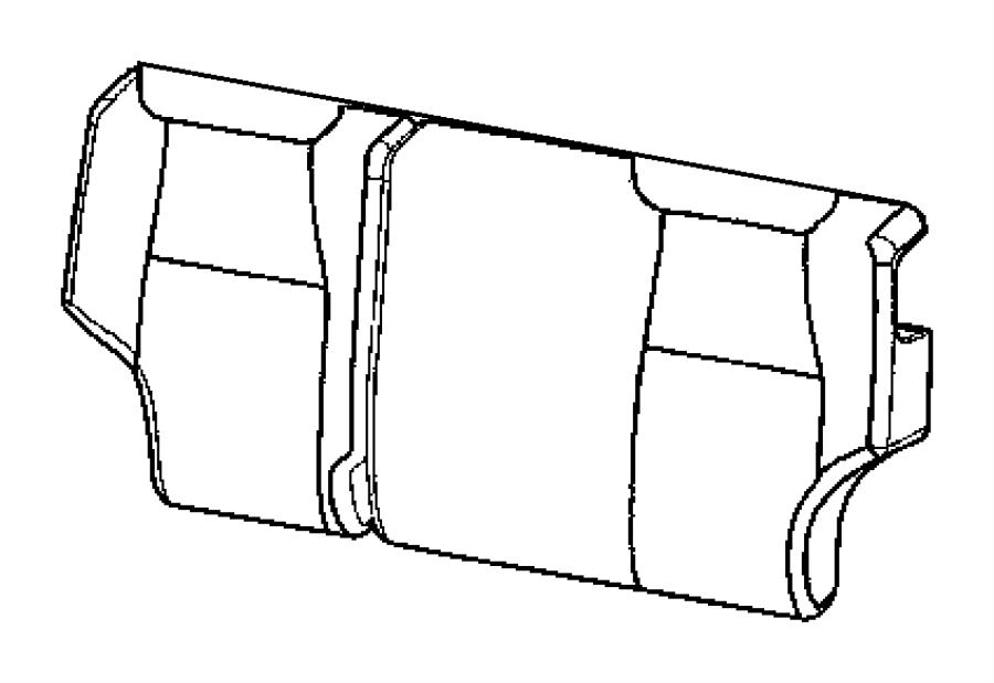Jeep Grand Cherokee Cover. Rear seat back. [dv]. Trim