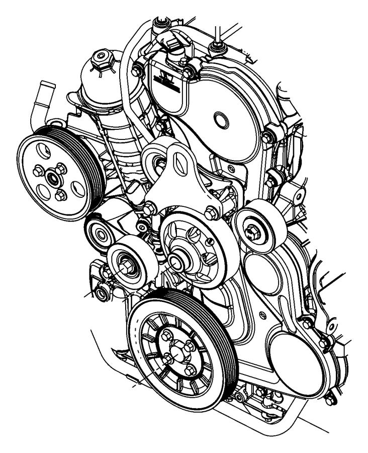 Dodge Nitro Pulley. Power steering pump. [6-speed manual