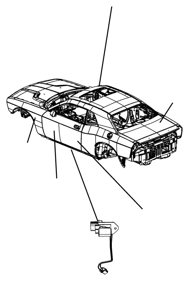Dodge Challenger Lamp. Led. In seat back. Trim: [prem