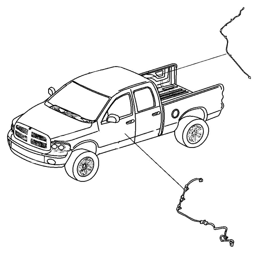 Dodge Ram 3500 Wiring, wiring kit. Tailgate, tailgate
