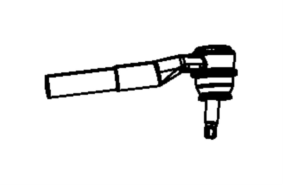 2011 Dodge Ram 2500 Drag link, socket package. Drag link